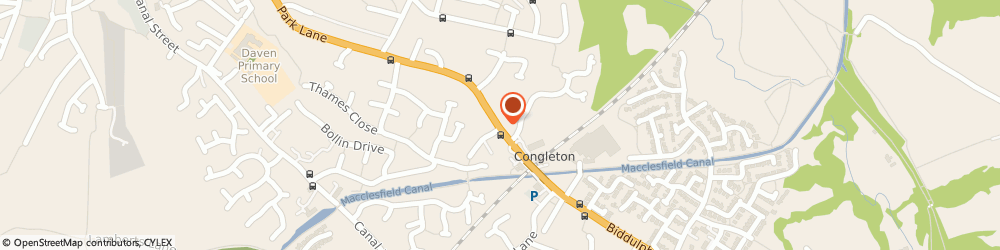 Route/map/directions to Holland Matthew, CW12 3DD Congleton, 81 Park Ln