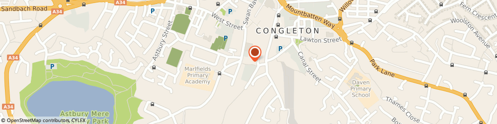Route/map/directions to BritCopy, CW12 4AL Congleton, 9 Vale Walk