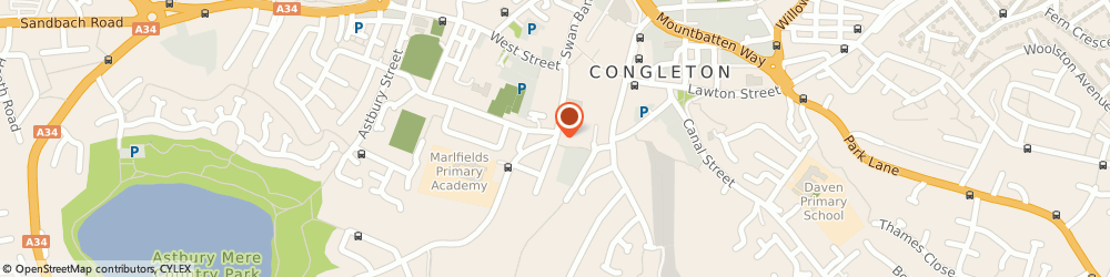 Route/map/directions to Blinds By Design, CW12 4BA Congleton, 34 Wagg Street