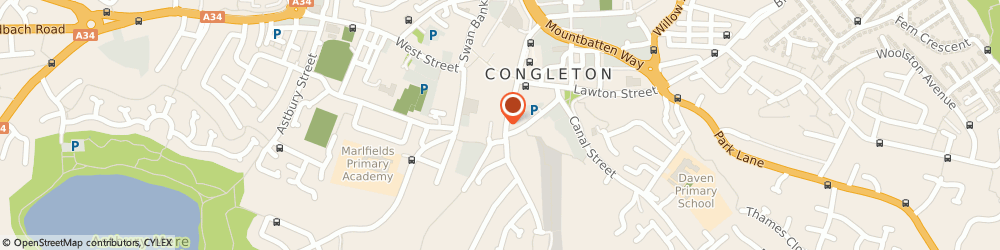 Route/map/directions to SIGN AND SECURE LTD, CW12 4AN Congleton, Moody Hall Annex Moody St