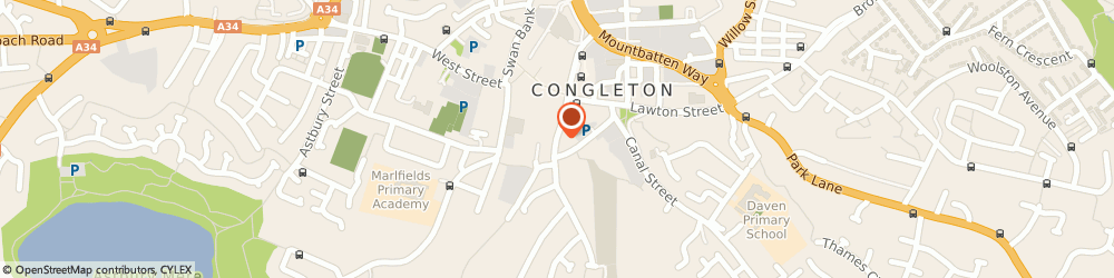 Route/map/directions to Prospects Personnel Management Ltd, CW12 4AP Congleton, 14 Moody Street