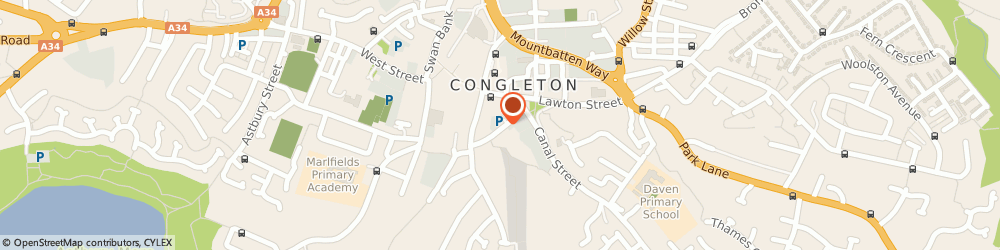 Route/map/directions to Congleton Trades & Labour Club, CW12 4AB Congleton, 2, CHAPEL STREET