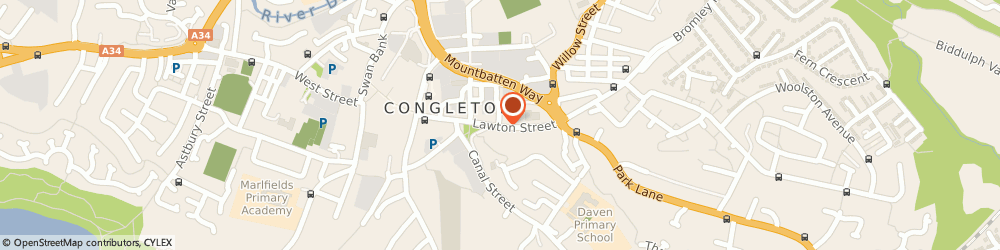 Route/map/directions to Congleton Oatcakes, CW12 1RS Congleton, 28 Lawton St