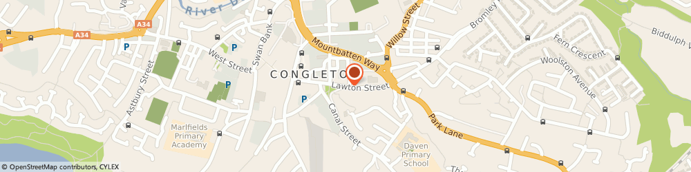 Route/map/directions to Bradshaw House Family Centre, CW12 1RU Congleton, 21 LAWTON STREET