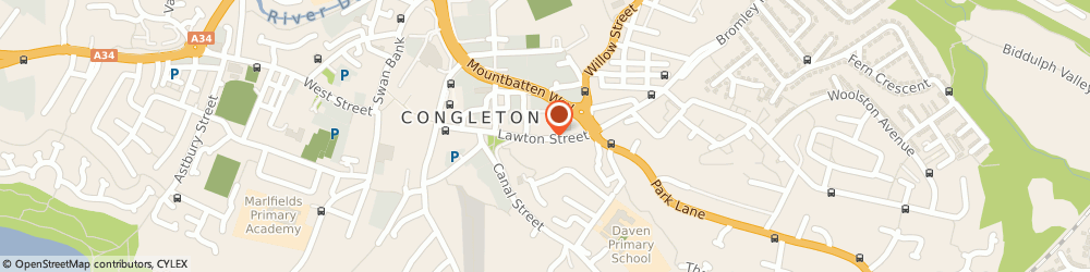Route/map/directions to Pitstop, CW12 1RS Congleton, 42B Lawton Street