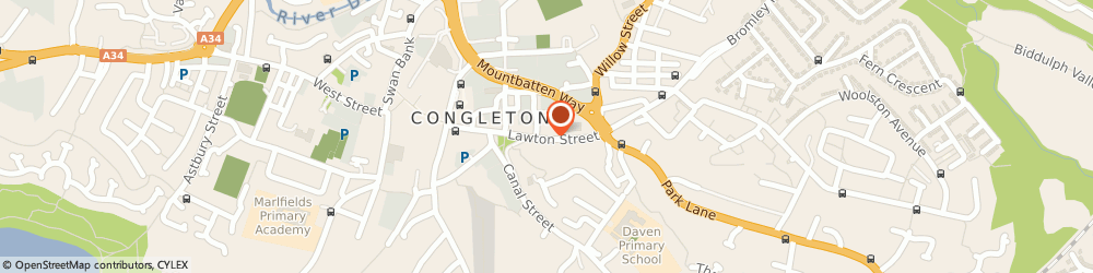 Route/map/directions to Browns Furniture, CW12 1RS Congleton, 36 Lawton Street