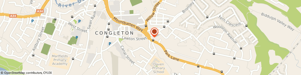 Route/map/directions to Well Congleton - Park Lane, CW12 3DN Congleton, 1 Park Lane