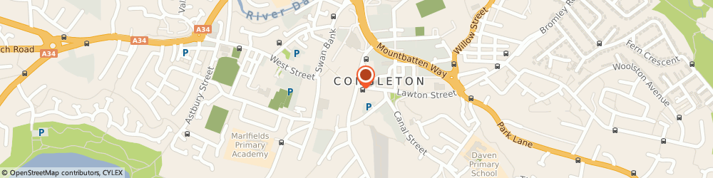 Route/map/directions to National Westminster Bank PLC, CW12 1BE Congleton, 46 HIGH STREET