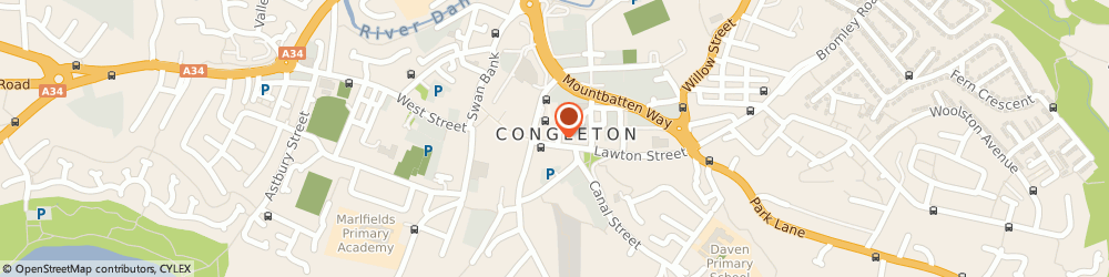 Route/map/directions to HSBC Bank, CW12 1BJ Congleton, 15 High Street
