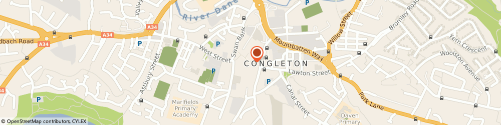 Route/map/directions to Chatwins, CW12 1AY Congleton, 7 Bridge St