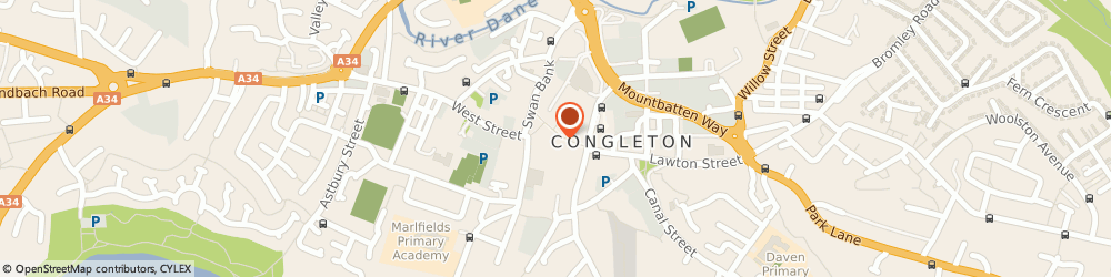 Route/map/directions to Boots Hearingcare, CW12 1AY Congleton, 11 Bridge Street
