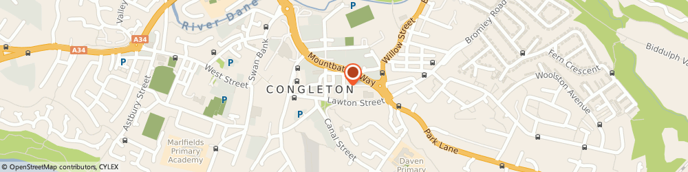 Route/map/directions to Adullam Homes Housing Association Ltd, CW12 1EJ Congleton, 1, BANK STREET