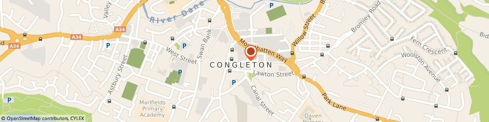 Route/map/directions to Congleton Museum, CW12 1ET Congleton, Market Square