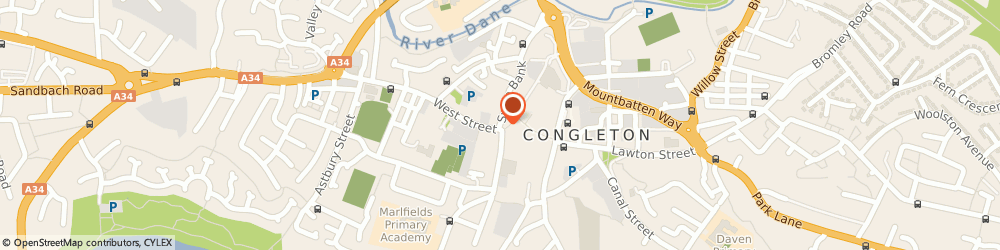 Route/map/directions to NatWest - CONGLETON ATM, CW12 1BE Congleton, 2 Swan Bank