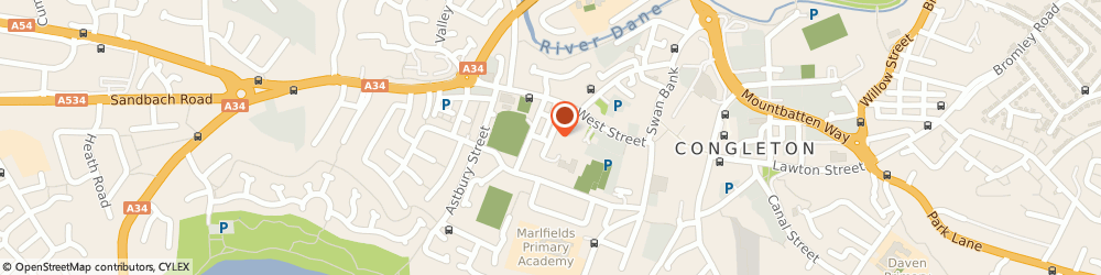 Route/map/directions to Congleton Furniture Centre Used Second Furniture, CW12 4DH Congleton, 12 Silk Street