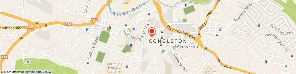 Route/map/directions to The Three Cooks, CW12 1AS Congleton, 17, BRIDGE STREET