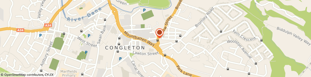 Route/map/directions to Macclesfield Blinds, CW12 1EG Congleton, 86 PARK ST