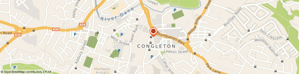 Route/map/directions to GEORGE BANKS (CONGLETON) LTD, CW12 1BP Congleton, Market Street