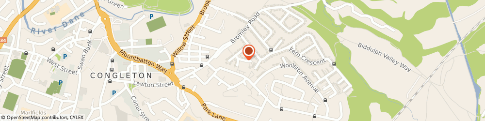 Route/map/directions to Bradwell Court Residential Care Home, CW12 3SA Congleton, Bradwell Grove