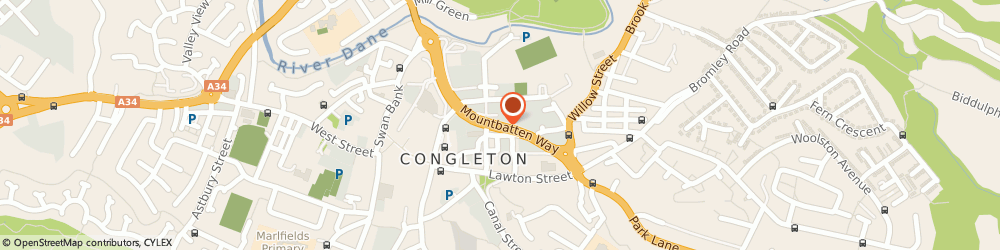 Route/map/directions to Learn Direct, CW12 1DY Congleton, Mountbatten Way