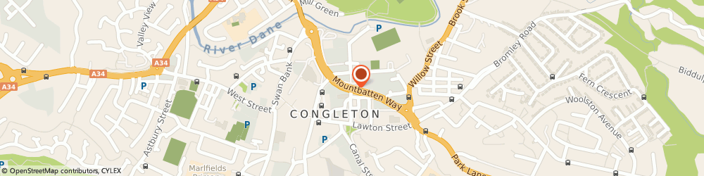 Route/map/directions to Poppyred Ifa-Congleton, CW12 1DY Congleton, RIVERSIDE MILL, MOUNTBATTEN WAY