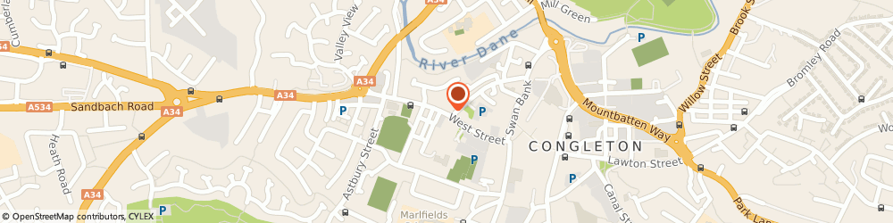 Route/map/directions to Grace Brown Interiors, CW12 1JY Congleton, 45 West St