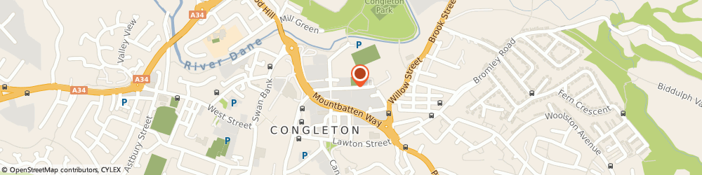 Route/map/directions to Parkholme Developments Ltd, CW12 1DT Congleton, 5 Worrall St