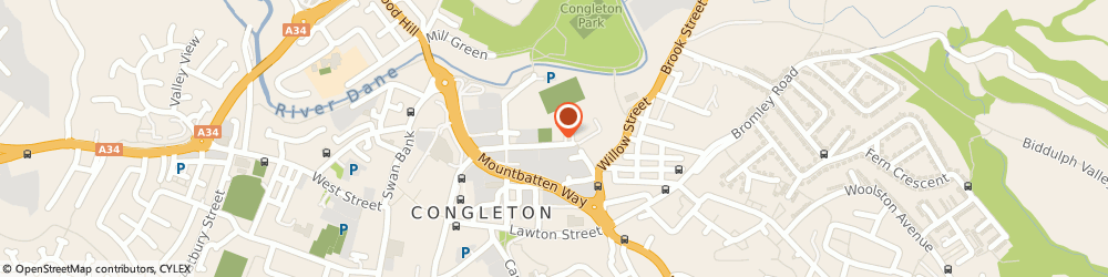 Route/map/directions to 1st Congleton Scout Group, CW12 1DT Congleton, 1St Congleton Scout Group, Worral Street