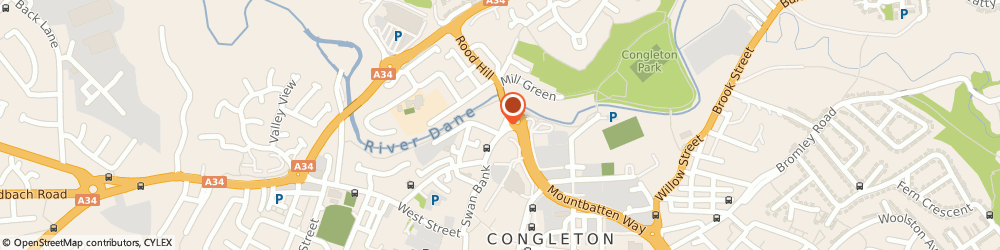 Route/map/directions to Eaton Masonic Hall (Congleton) Limited, CW12 1AG Congleton, 44 MILL STREET