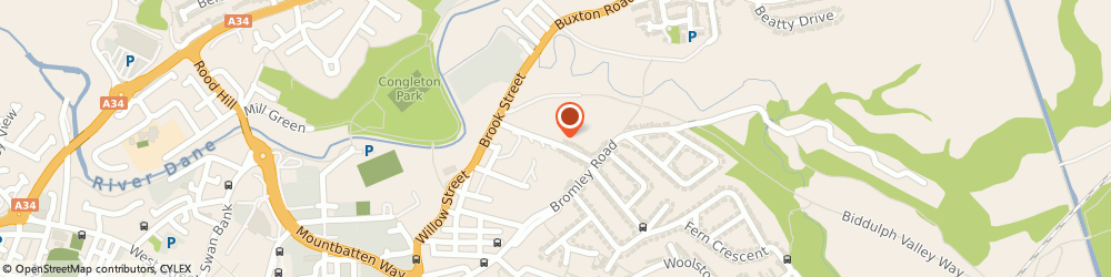 Route/map/directions to Applecroft, CW12 1QF Congleton, 48-50, Brunswick St