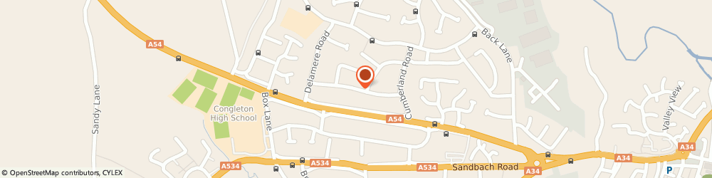 Route/map/directions to Am Vehicle Services Ltd, CW12 4PE Congleton, 35 LEAMINGTON ROAD