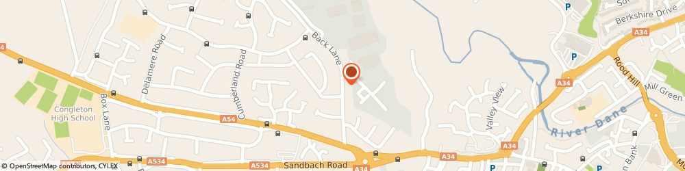 Route/map/directions to Olenol Ltd, CW12 4TR Congleton, OLENOL HOUSE PLOT 7 GREENFIELDS INDUSTRIAL ESTATE BACK LANE