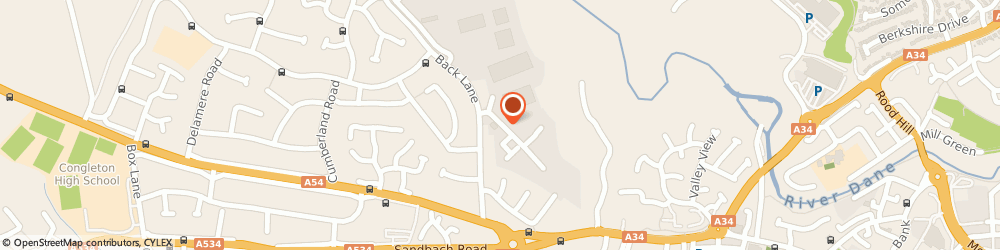 Route/map/directions to Pulse Fitness, CW12 4TW Congleton, Radnor Park, Greenfield Road