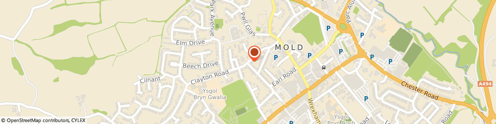 Route/map/directions to Avalon Bookkeeping Services Ltd, CH7 1GJ Mold, 10 Clayton Rd