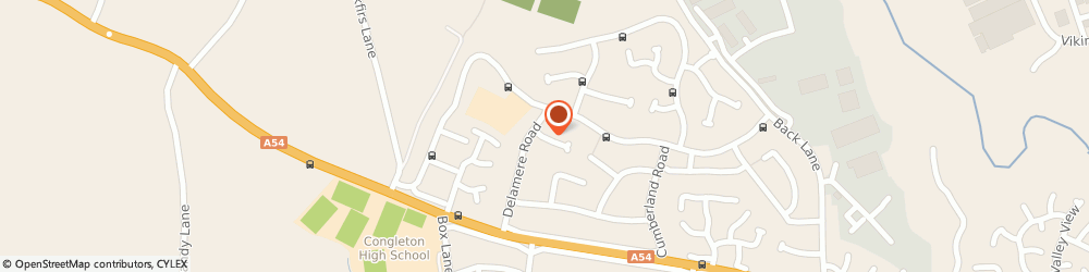 Route/map/directions to The Cheshire Cake Company, CW12 4PB Congleton, 18 Stopsley Close