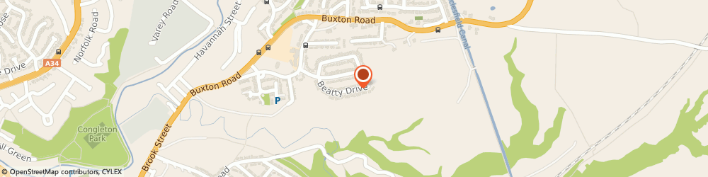 Route/map/directions to Cheshire SEO, CW12 2ER Congleton, 21 Beatty Drive