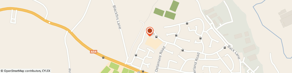Route/map/directions to Black Firs Primary School, CW12 4QJ Congleton, Longdown Road
