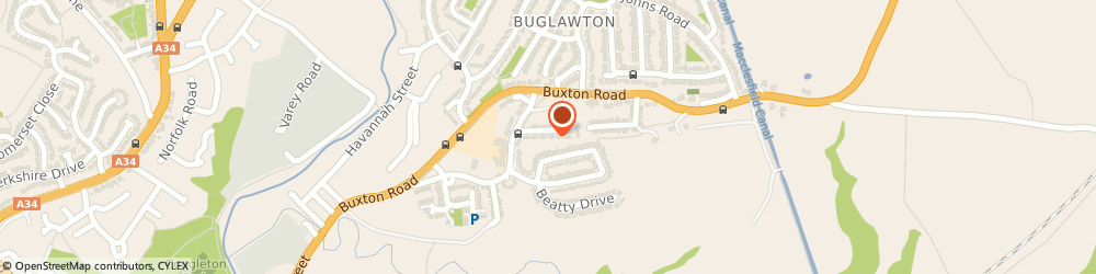 Route/map/directions to D A Taylor Brickworks Ltd, CW12 2EP Congleton, 2 HIGH LOWE AVENUE
