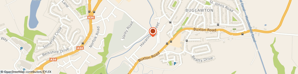 Route/map/directions to Midland Bottled Gas Stoke-on-Trent, CW12 2AH Congleton, Unit 20 Havannah Street, Buglawton