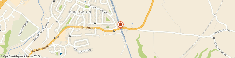 Route/map/directions to Performance Plasticisers & Additives Ltd, CW12 2PN Congleton, CROSSLEY STUD FARM, BUXTON ROAD