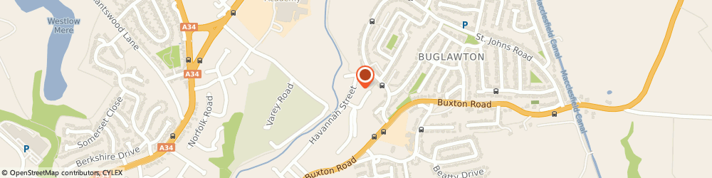 Route/map/directions to P. Barber, CW12 2AT Congleton, 62 Havannah St