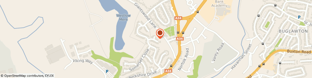 Route/map/directions to PTP ENTERTAINMENT LIMITED, CW12 1LL Congleton, 10 Ascot Close