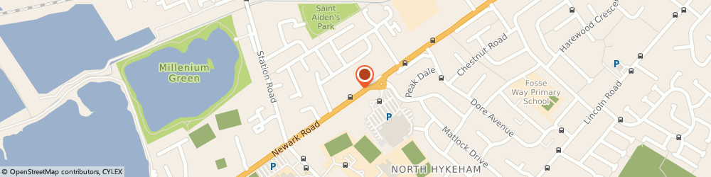 Route/map/directions to Stephens Printers, LN6 8QS Lincoln, 215 Newark Road