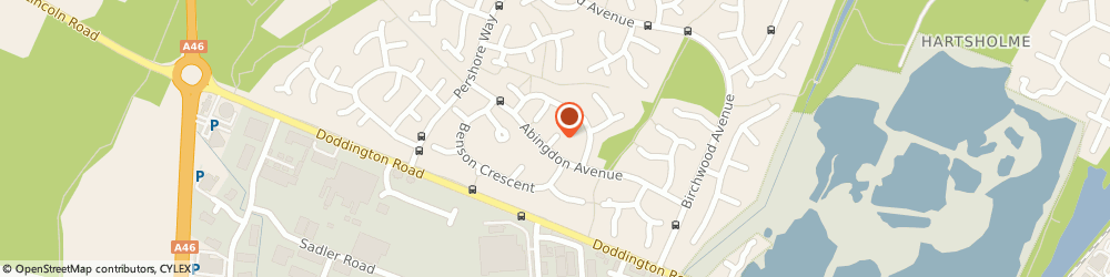 Route/map/directions to Mark Jorgensen, LN6 3UH Lincoln, 11 Abingdon Cl