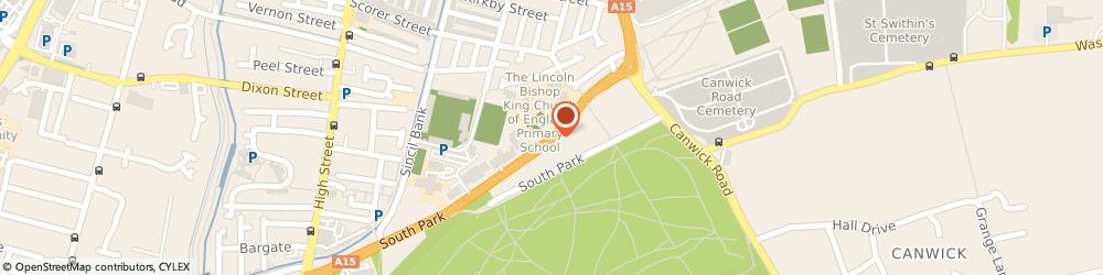 Route/map/directions to Italia Moto Ltd, LN5 8EL Lincoln, Kingsway, South Park Avenue
