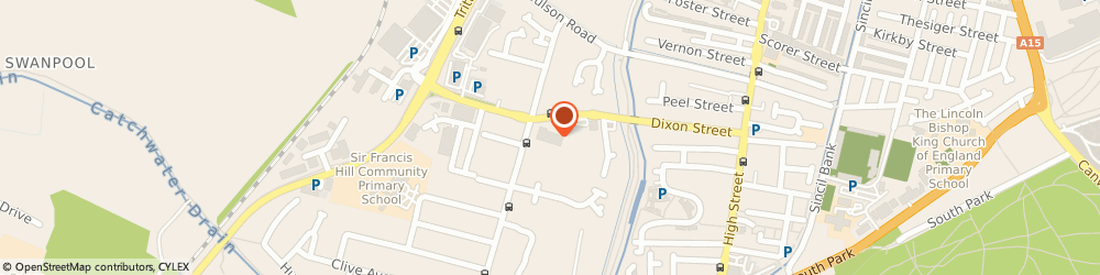 Route/map/directions to Lidl, LN6 7SA Lincoln, Dixon Street