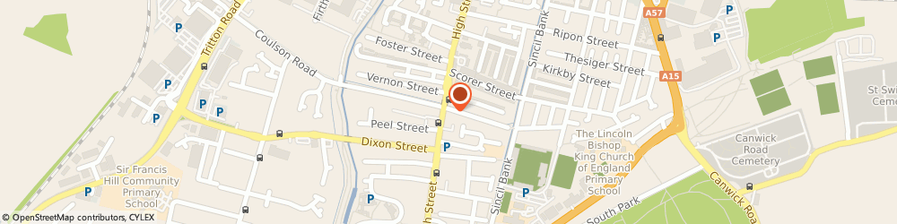 Route/map/directions to Domino's Pizza - Lincoln - Central, LN5 7TE Lincoln, 409-410 High Street