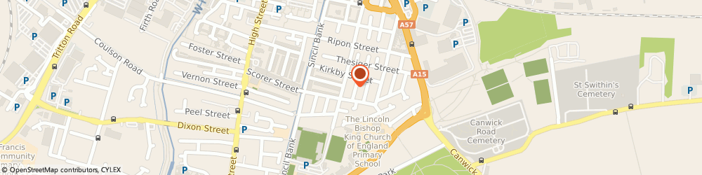 Route/map/directions to Sage Social Care Limited, LN5 7TX Lincoln, 17 MARTIN STREET