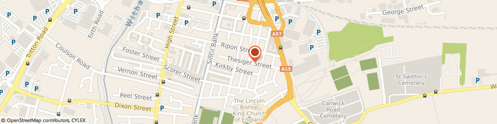 Route/map/directions to EXTRUDE LTD, LN5 7UY Lincoln, 72 Thesiger Street
