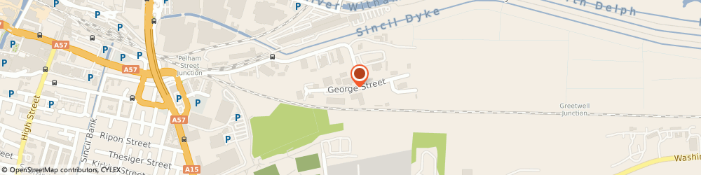 Route/map/directions to IMP Transport, LN5 8LG Lincoln, 4 George St